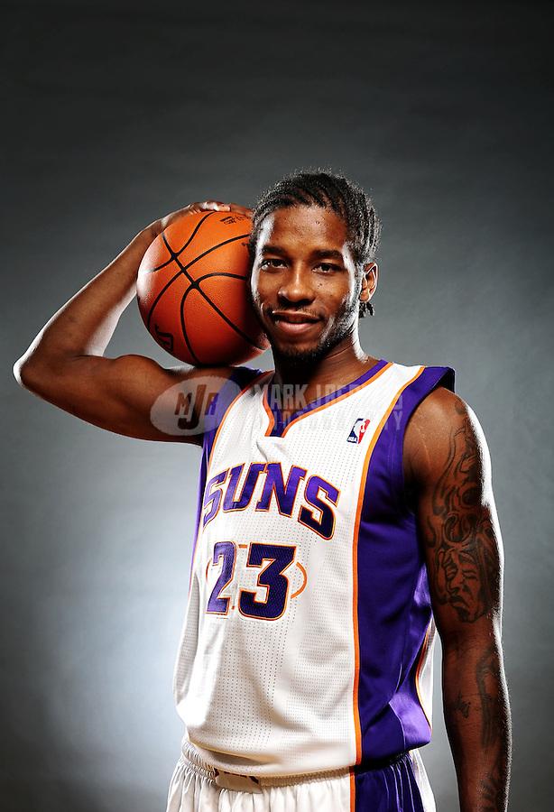 Dec. 16, 2011; Phoenix, AZ, USA; Phoenix Suns guard Dwight Buycks poses for a portrait during media day at the US Airways Center. Mandatory Credit: Mark J. Rebilas-