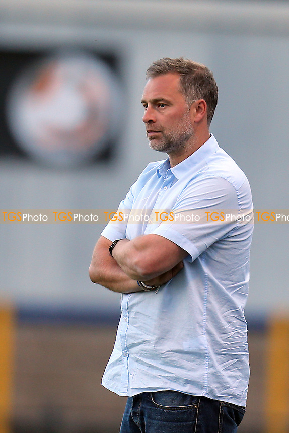Daggers manager Wayne Burnett - St Albans City vs Dagenham and Redbridge - Pre season football at the Clarence Park Stadium - 06/07/15 - MANDATORY CREDIT: Dave Simpson/TGSPHOTO - Self billing applies where appropriate - 0845 094 6026 - contact@tgsphoto.co.uk - NO UNPAID USE