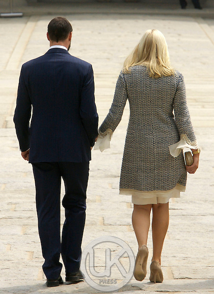 Crown Prince Haakon & Crown Princess Mette Marit of Norway visit Gyeongbokgung Palace in Seoul on the first day of their four day visit to South Korea.
