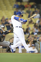 05/31/12 Los Angeles, CA: Los Angeles Dodgers first baseman James Loney #7 during an MLB game between the Milwaukee Brewers and the Los Angeles Dodgers played at Dodger Stadium. The Brewers defeated the Dodgers 6-2.
