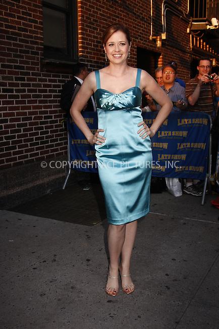 WWW.ACEPIXS.COM . . . . .  ....June 2, 2008. New York City.....Actress Jenna Fischer visits the 'Late Show with David Letterman' at the Ed Sullivan Theater.......Please byline: AJ Sokalner - ACEPIXS.COM.... *** ***..Ace Pictures, Inc:  ..Philip Vaughan (646) 769 0430..e-mail: info@acepixs.com..web: http://www.acepixs.com