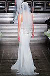 Model walks runway in a Yalina bridal gown from the Atelier Pronovias 2014 collection by Pronovias, at St. James' Church in New York City, on November 12, 2013.