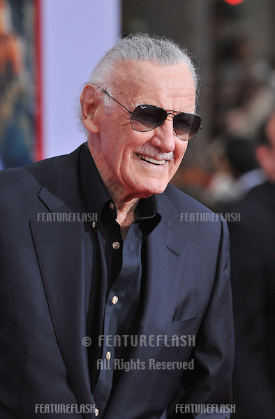 "Stan Lee at the Los Angeles premiere of his movie ""Iron Man 3"" at the El Capitan Theatre, Hollywood..April 24, 2013  Los Angeles, CA.Picture: Paul Smith / Featureflash"