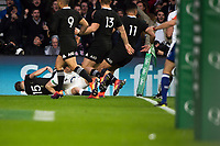 Twickenham, United Kingdom, Saturday, 10th  November 2018, RFU, Rugby, Stadium, England, First Try of the Quilter, Autumn International, England vs New Zealand, Chris ASHTON, touches down, in the corner, © Peter Spurrier