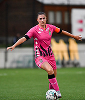 defender Noemie Fourdin of Sporting Charleroi pictured during a female soccer game between Sporting Charleroi and FC Femina White Star Woluwe on the second matchday of the 2020 - 2021 season of Belgian Scooore Women s SuperLeague , friday 4 th of September 2020  in Marcinelle , Belgium . PHOTO SPORTPIX.BE | SPP | DAVID CATRY