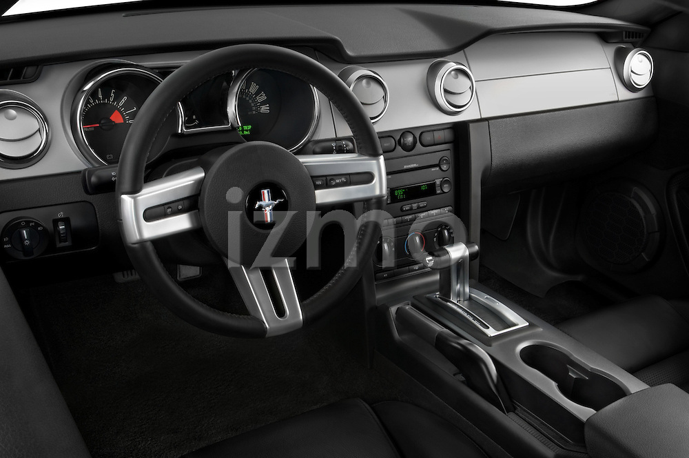 High angle dashboard view of a 2007 Ford Mustang GT Coupe