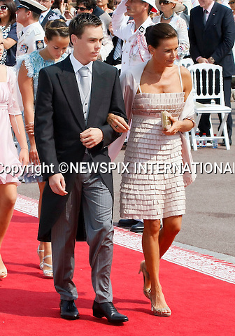 "MONACO ROYAL WEDDING .Princess Stephanie..Guests Arrive at the Religious wedding of H.S.H Prince Albert II and Miss Charlene Wittstock in the Prince's Palace._Prince's Palace Monaco 01/07/2011..Mandatory Photo Credit: ©Newspix International..**ALL FEES PAYABLE TO: ""NEWSPIX INTERNATIONAL""**..PHOTO CREDIT MANDATORY!!: NEWSPIX INTERNATIONAL(Failure to credit will incur a surcharge of 100% of reproduction fees)..IMMEDIATE CONFIRMATION OF USAGE REQUIRED:.Newspix International, 31 Chinnery Hill, Bishop's Stortford, ENGLAND CM23 3PS.Tel:+441279 324672  ; Fax: +441279656877.Mobile:  0777568 1153.e-mail: info@newspixinternational.co.uk"
