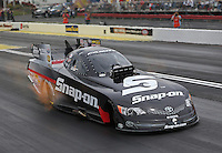 May 11, 2013; Commerce, GA, USA: NHRA funny car driver Cruz Pedregon after winning the Southern Nationals at Atlanta Dragway. Mandatory Credit: Mark J. Rebilas-