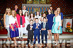 The pupils and staff of Knockanes NS Glenflesk with Fr George Hayes at the First Holy Communion in Glenflesk on Saturday