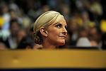 Cindy McCain sits in the crowd on day two of the Republican National Convention at the XCel Center in Saint Paul, Minnesota on September 2, 2008.