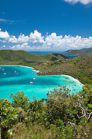 View of Maho and Francis Bay<br /> from the overlook<br /> Virgin Islands National Park<br /> St. John<br /> U.S. Virgin Islands