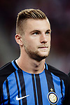 FC Internazionale Defender Milan Skriniar getting into the field during the International Champions Cup match between FC Bayern and FC Internazionale at National Stadium on July 27, 2017 in Singapore. Photo by Marcio Rodrigo Machado / Power Sport Images