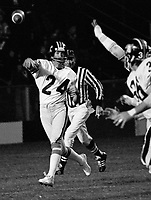 Peter Liske quarterback 1975 BC Lions. Photo copyright Scott Grant.
