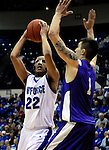 February 6, 2010:  Air Force guard, Avery Merriex (22), during  Mountain West Conference action between TCU and Air Force at Clune Arena, U.S. Air Force Academy, Colorado Springs, Colorado.  TCU defeats Air Force 65-51