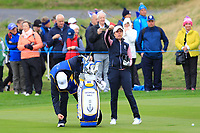 Georgia Hall of Team Europe on the 7th fairway during Day 2 Foursomes at the Solheim Cup 2019, Gleneagles Golf CLub, Auchterarder, Perthshire, Scotland. 14/09/2019.<br /> Picture Thos Caffrey / Golffile.ie<br /> <br /> All photo usage must carry mandatory copyright credit (© Golffile | Thos Caffrey)