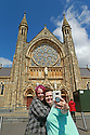 American tourists Linda and Rebecca Arredondo from Florida do a selfie outside Clonard Monastery off the Falls Road, west Belfast, Tuesday, June 18th, 2019. (Photo by Paul McErlane for the Belfast Telegraph)