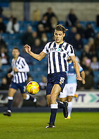 Sid Nelson of Millwall during the Checkatrade Trophy round two Southern Section match between Millwall and Wycombe Wanderers at The Den, London, England on the 7th December 2016. Photo by Liam McAvoy.