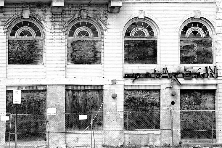 Old dilapidated building that will inevitably be replaced by condos in Phase 2 of Asbury Park's revitalization.