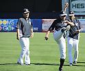 (L-R) Masahiro Tanaka, Ichiro Suzuki, Derek Jeter (Yankees), MARCH 1, 2014 - MLB : MLB spring training baseball game between New York Yankees and Philadelphia Phillies in Tampa, Florida, United States. (Photo by AFLO)