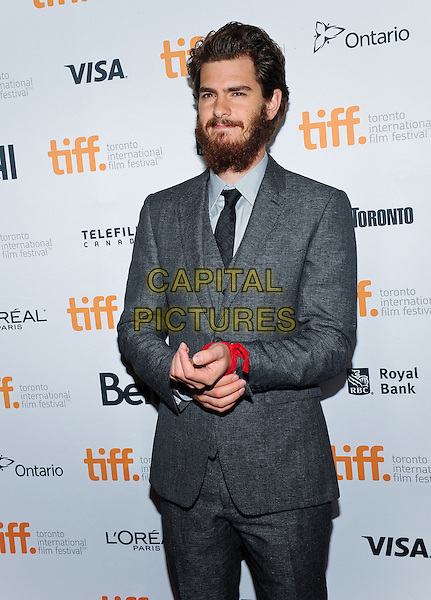 08 September 2014 - Toronto, Canada - Andrew Garfield. &quot;99 Homes&quot; Premiere during the 2014 Toronto International Film Festival held at Princess of Wales theatre.  <br /> CAP/ADM/BPC<br /> &copy;Brent Perniac/AdMedia/Capital Pictures
