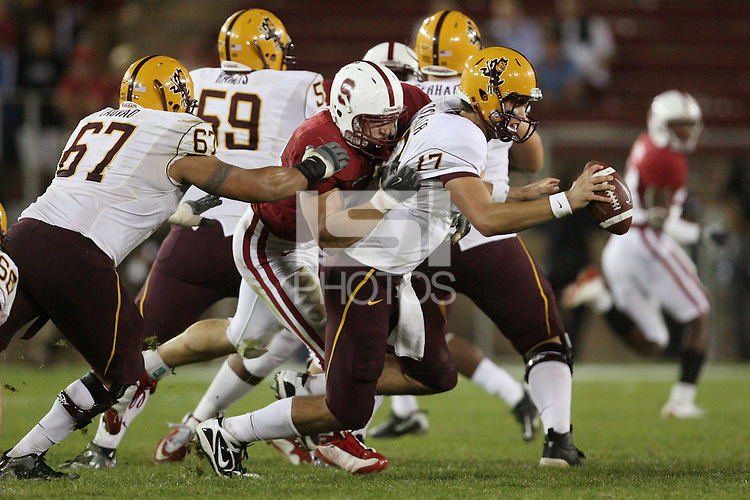 STANFORD, CA - OCTOBER 24:  Thomas Keiser of the Stanford Cardinal during Stanford's 33-14 win over ASU on October 24, 2009 at Stanford Stadium in Stanford, California.