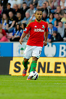 Tuesday, 7 May 2013<br /> <br /> Pictured: Wayne Routledge of Swansea City<br /> <br /> Re: Barclays Premier League Wigan Athletic v Swansea City FC  at the DW Stadium, Wigan