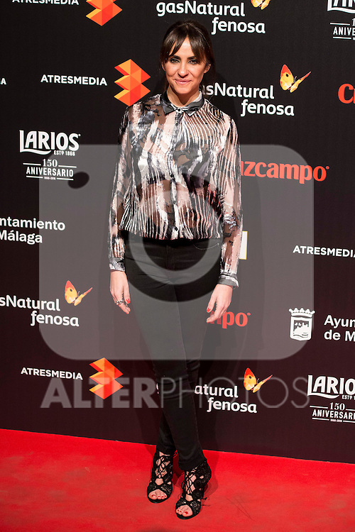 Melani Olivares attends to the cocktail presentation of the XIX Malaga Film Festival at Circulo de Bellas Artes in Madrid. April 06, 2016. (ALTERPHOTOS/Borja B.Hojas)
