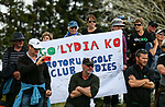 Lydia Ko fans. McKayson NZ Women's Golf Open, Round Two, Windross Farm Golf Course, Manukau, Auckland, New Zealand, Saturday 30 September 2017.  Photo: Simon Watts/www.bwmedia.co.nz
