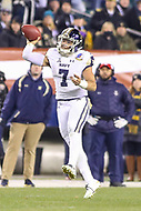 Philadelphia, PA - December 8, 2018:  Navy Midshipmen quarterback Garret Lewis (7) throws a pass during the 119th game between Army vs Navy at Lincoln Financial Field in Philadelphia, PA. (Photo by Elliott Brown/Media Images International)