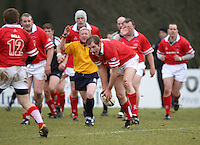 Gary Longwell in action during the charity match between the Ulster 1999 XV and a Wooden Spoon Select XV at Shaw's Bridge Belfast.  Mandatory Credit - Photo : John Dickson