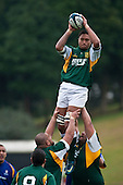 Tai Marsters takes lineout ball. Oceania Cup & RWC Qualifier rugby game between the Cook Islands & Niue played at Growers Stadium, Pukekohe, on Saturday 27th June 2009. The Cook Islands won 29 - 7 after leading 9 - 7 at halftime.