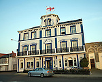 Pier hotel, Harwich, Essex, England. The Pier Hotel of 1860 was built on the quayside following the arrival of the railway line from Colchester in 1854.