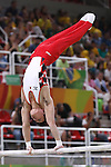 Yusuke Tanaka (JPN), <br /> AUGUST 6, 2016 - Artistic Gymnastics : <br /> Men's Qualification <br /> Parallel Bars <br /> at Rio Olympic Arena <br /> during the Rio 2016 Olympic Games in Rio de Janeiro, Brazil. <br /> (Photo by Sho Tamura/AFLO SPORT)
