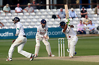 Andrew Umeed of Warwickshire hits out during Essex CCC vs Warwickshire CCC, Specsavers County Championship Division 1 Cricket at The Cloudfm County Ground on 21st June 2017