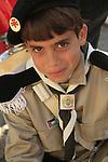 Bethlehem, a boy scout in Manger Square