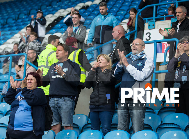Wycombe supporters during the Sky Bet League 2 match between Carlisle United and Wycombe Wanderers at Brunton Park, Carlisle, England on 24 September 2016. Photo by Andy Rowland.