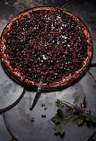 Europe/France/Midi-Pyrénées/12/Aveyron/Aubrac : Chez Germaine - Tarte aux fruits rouges