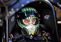 Jul. 17, 2010; Sonoma, CA, USA; NHRA funny car driver Tony Pedregon during qualifying for the Fram Autolite Nationals at Infineon Raceway. Mandatory Credit: Mark J. Rebilas-