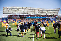 Sandy, UT - Saturday April 14, 2018: Pre-game ceremony prior to a regular season National Women's Soccer League (NWSL) match between the Utah Royals FC and the Chicago Red Stars at Rio Tinto Stadium.