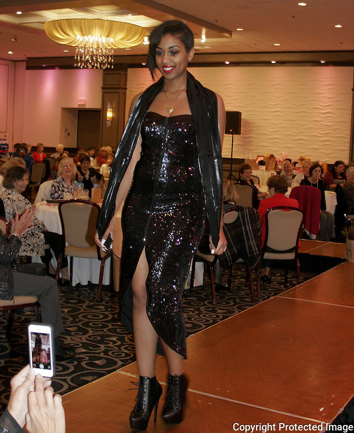 Bethany Richards modeled at the Braintree Women's Club annual fashion show and fundraiser to benefit their scholarship fund on Sunday October 19, 2014 at Lombardo's in Randolph.(Photo by Gary Wilcox)