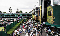 Ambience<br /> <br /> Tennis - The Championships Wimbledon  - Grand Slam -  All England Lawn Tennis Club  2013 -  Wimbledon - London - United Kingdom -Saturday  2nd July 2013. <br /> &copy; AMN Images, 8 Cedar Court, Somerset Road, London, SW19 5HU<br /> Tel - +44 7843383012<br /> mfrey@advantagemedianet.com<br /> www.amnimages.photoshelter.com<br /> www.advantagemedianet.com<br /> www.tennishead.net
