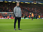 Jurgen Klopp manager of Liverpool during the Champions League Semi Final 1st Leg match at Anfield Stadium, Liverpool. Picture date: 24th April 2018. Picture credit should read: Simon Bellis/Sportimage