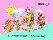 GIORDANO, EASTER, OSTERN, PASCUA, paintings+++++,USGI4,#E# rabbits
