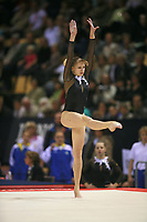 Oct 18, 2006; Aarhus, Denmark; Portrait is of Alina Kozich of Ukraine performs on floor exercise during women's gymnastics team competition at 2006 World Championships Artistic Gymnastics. Photo by Tom Theobald