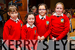 Students from Bouleenshere National School,  Ballyheigue, pictured at the Donal Walsh Live Life Foundation Kerry Film awards 2015, in the Fels Point Hotel, Tralee on Wednesday, were l-r: Niamh Dineen, Maggie Stack Jayda Kahraman and Katie Godley.