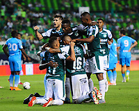 PALMIRA - COLOMBIA, 20-07-2019: Danny Rosero Valencia del Cali celebra después de anotar el segundo gol de su equipo durante partido entre Deportivo Cali y Jaguares de Córdoba por la fecha 2 de la Liga Águila II 2019 jugado en el estadio Deportivo Cali de la ciudad de Palmira. / Danny Rosero Valencia of Cali celebrates after scoring the second goal of his team during match between Deportivo Cali and Jaguares de Cordoba for the date 2 as part Aguila League II 2019 played at Deportivo Cali stadium in Palmira city. Photo: VizzorImage / Nelson Rios / Cont