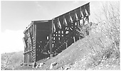 RGS's Burnett and Clifton Automatic Coal Chute at Ute Junction.<br /> RGS  Ute Junction, CO  Taken by Richardson, Robert W. - 6/16/1953