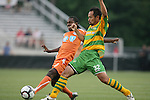 14 May 2010: Carolina's Gregory Richardson (GUY) (left) and Tampa Bay's Takuya Yamada (JPN) (32). The FC Tampa Bay Rowdies defeated the Carolina RailHawks 2-1 at WakeMed Stadium in Cary, North Carolina in a regular season U.S. Soccer Division-2 soccer game.