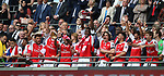Alexis Sanchez of Arsenal look on as the Arsenal players celebrate winning the FA Cup during the Emirates FA Cup Final match at Wembley Stadium, London. Picture date: May 27th, 2017.Picture credit should read: David Klein/Sportimage