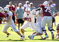 STANFORD, CA - MARCH 7, 2014--Stanford quarterback Keller Chryst, during Open Practices at Stanford University.